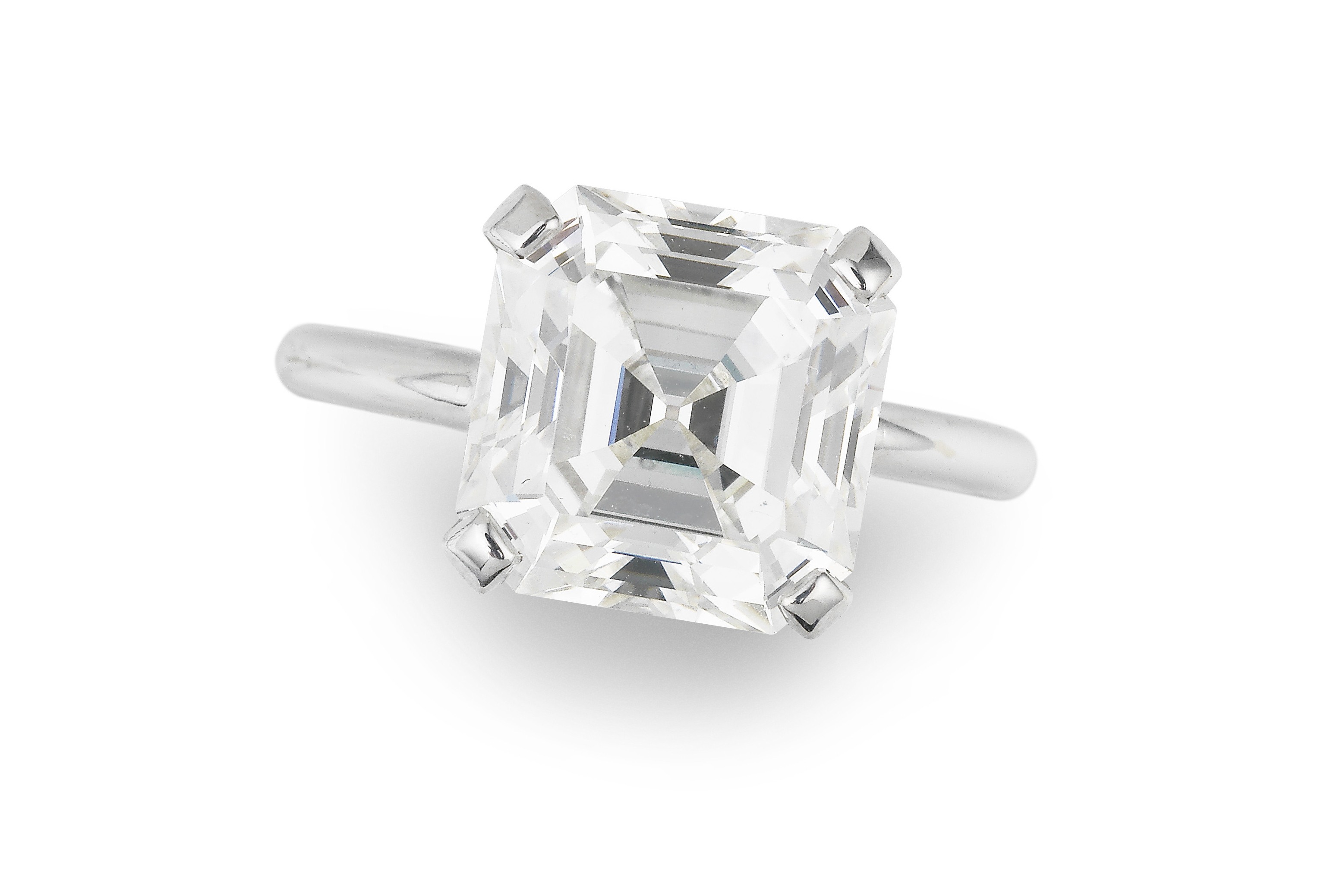 Van Cleef Arpels Single Stone Diamond Ring Sparkles At Auction