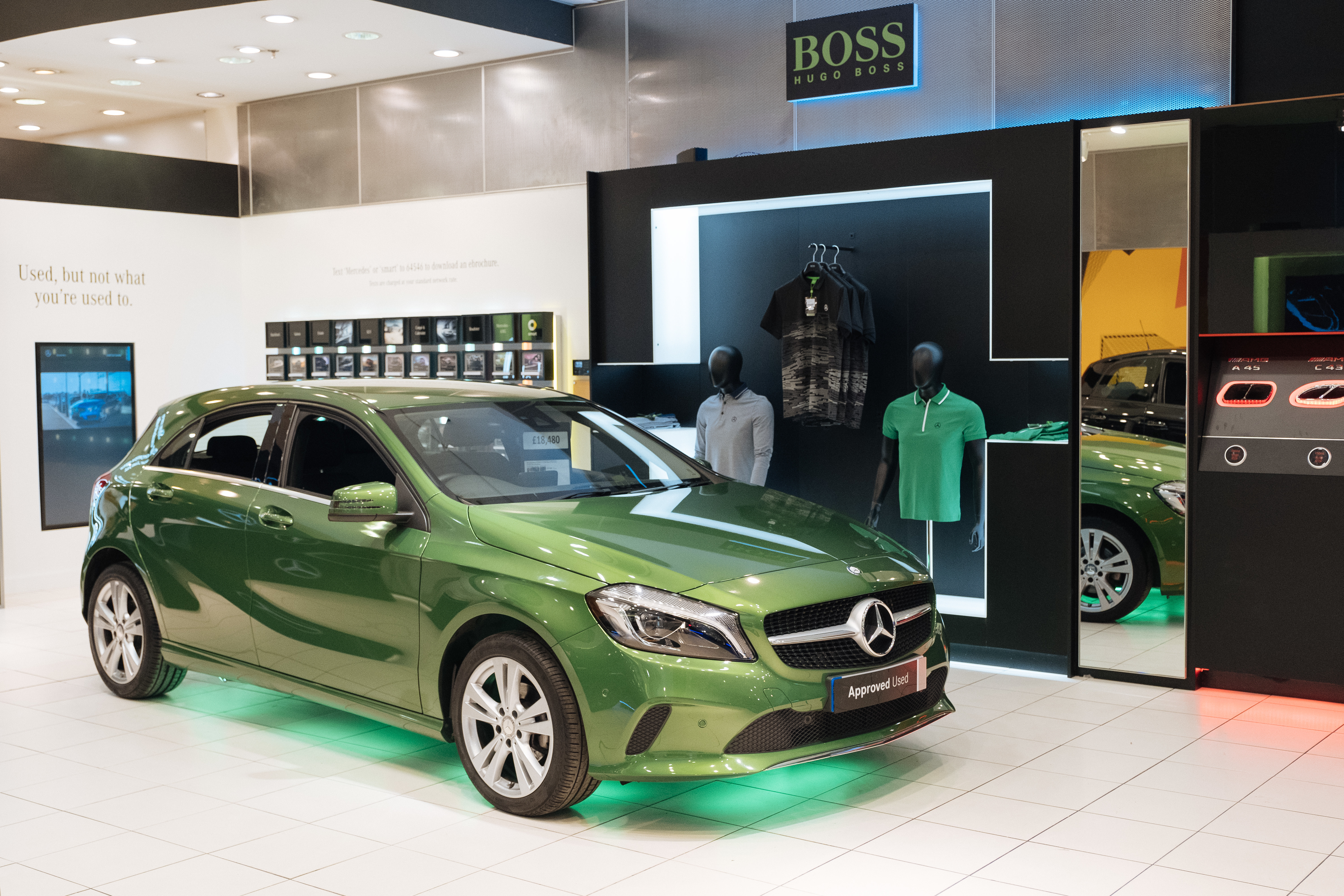 city benz white mercedes westfield pop car at store publish dealer opens up may magazine shop