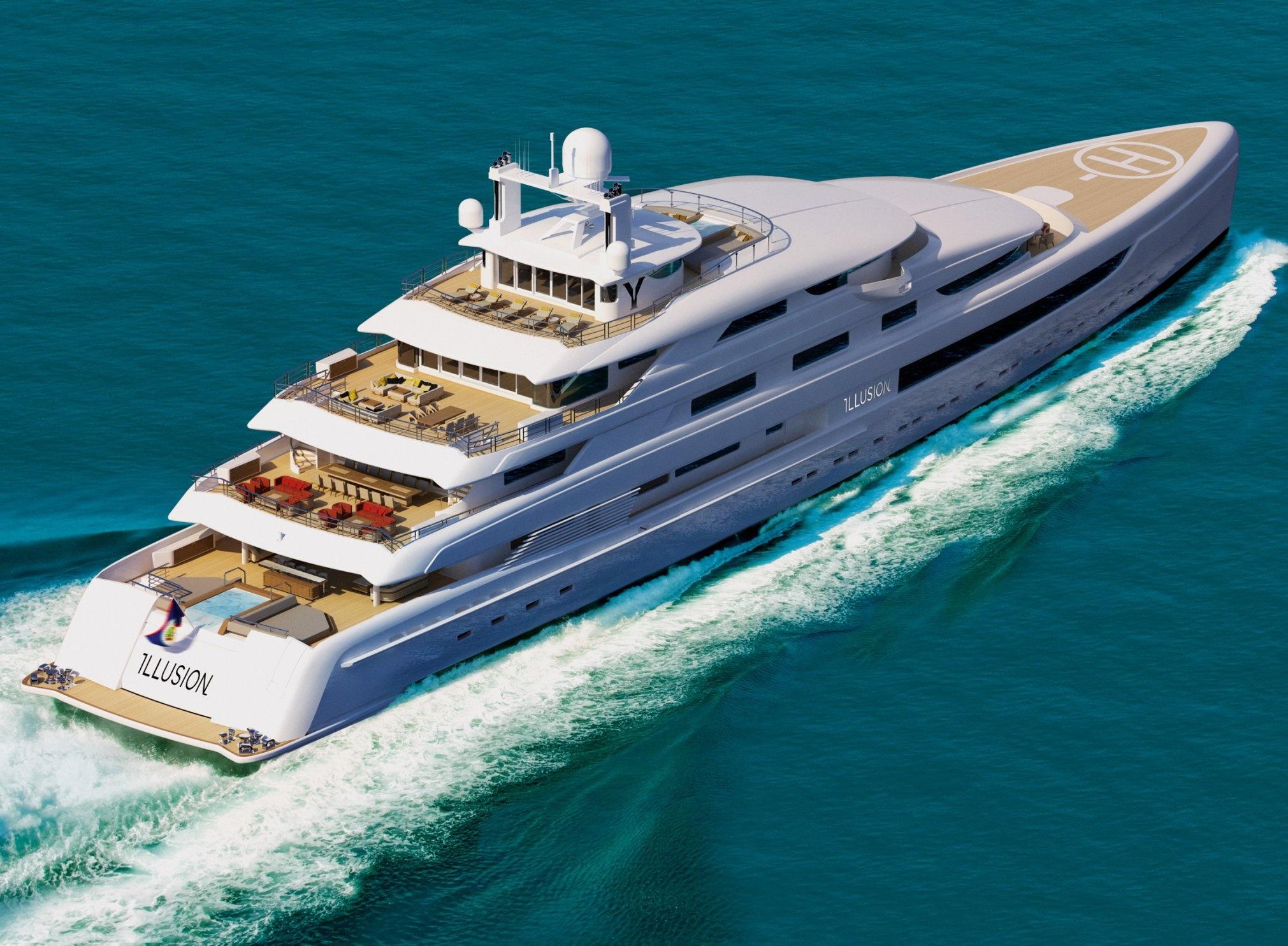 Superyacht Concept Estatement Project Illusion