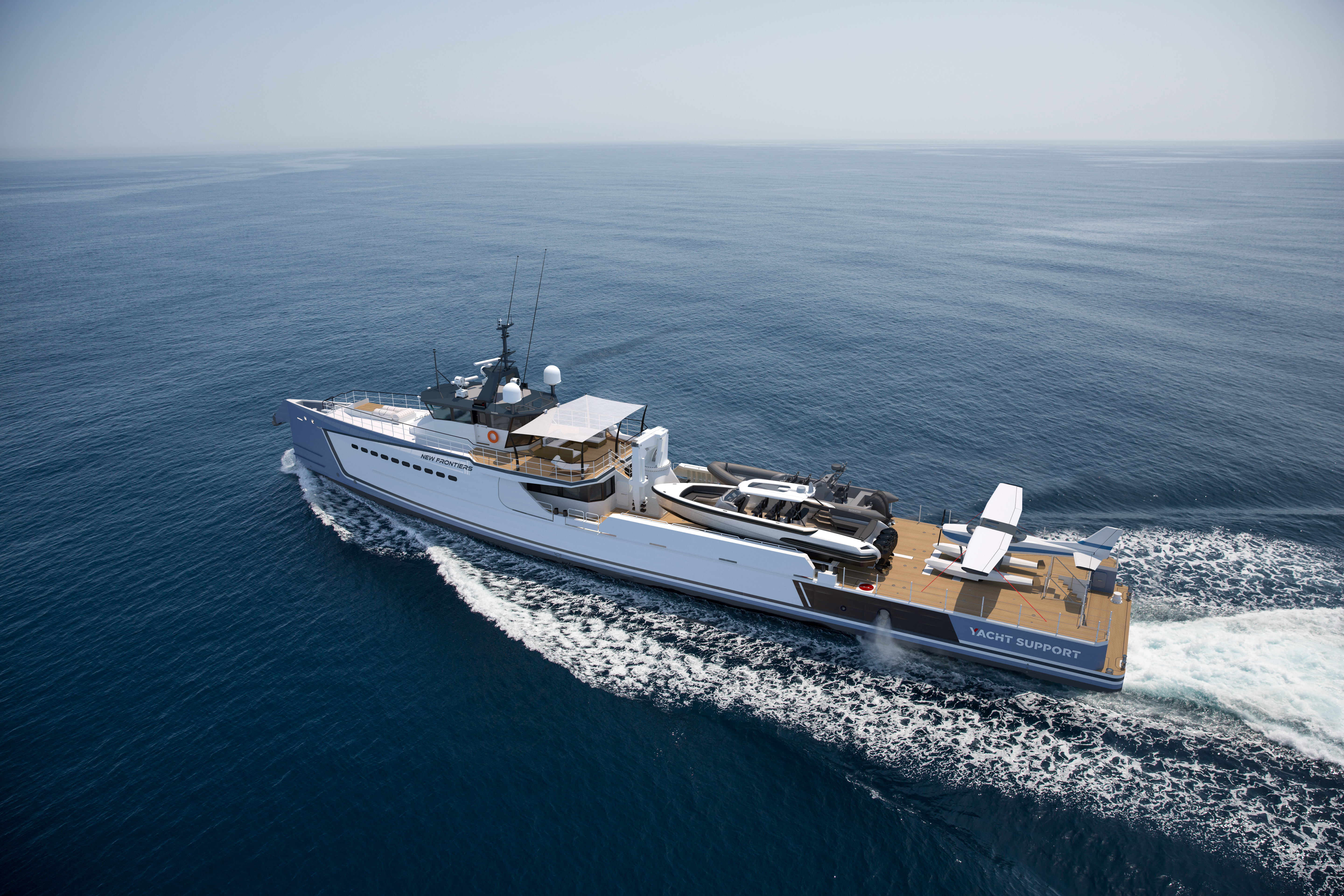 ... The 'New Frontiers' Yacht Support Vessel