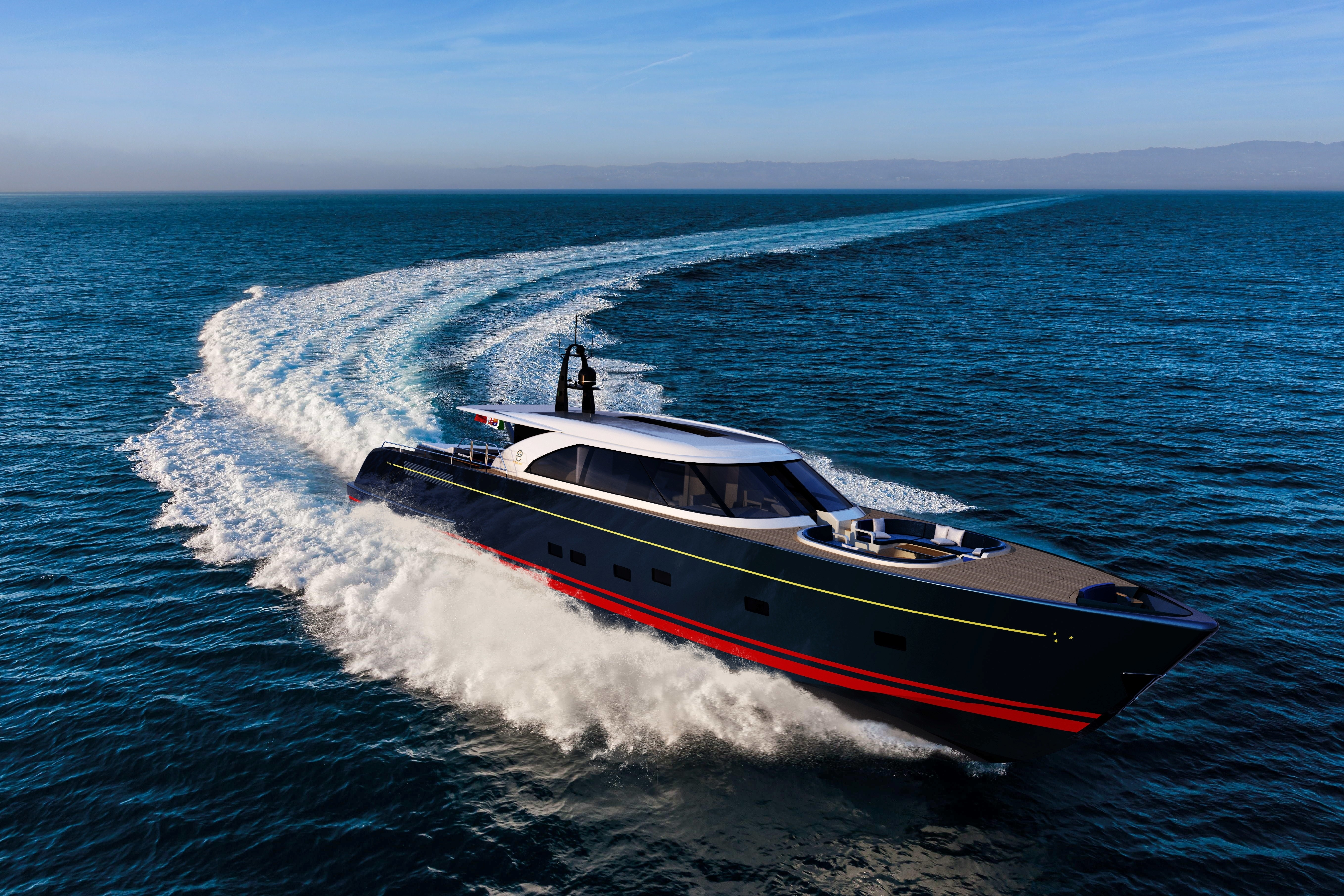 The Perini Navi Eco Tender Previewing At Palm Beach Boat Show