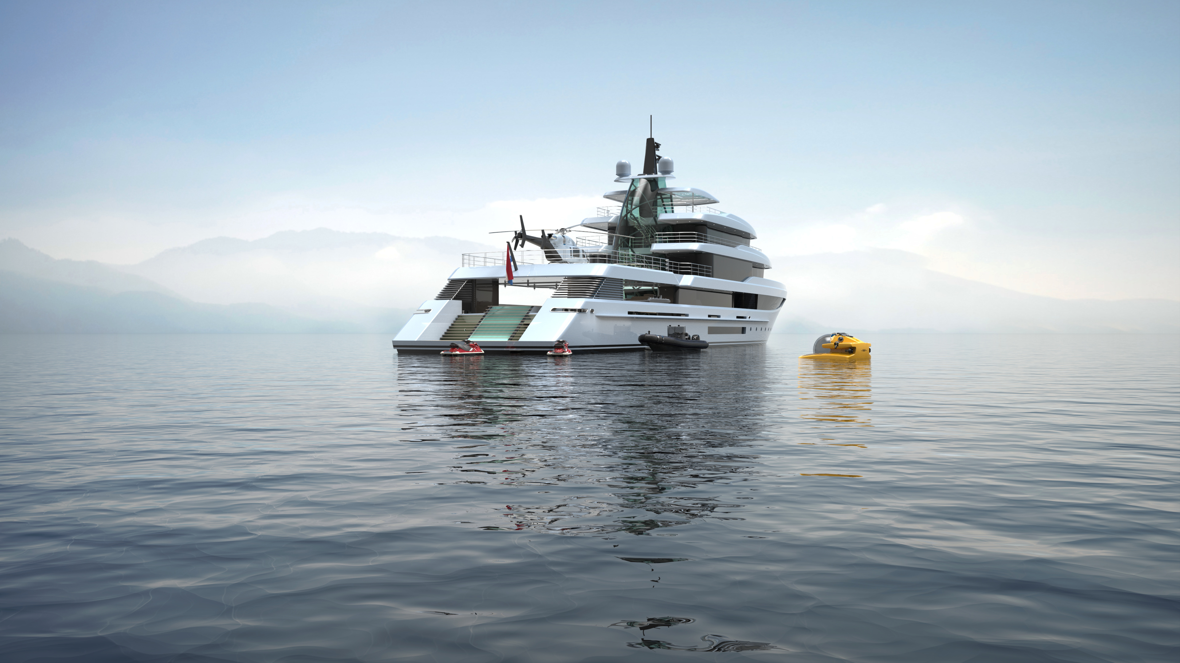 Project Crystal: A 70m Expedition Yacht from     superyachts com