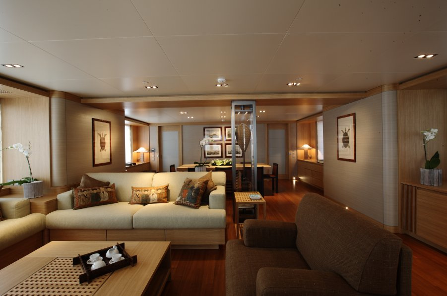 Superyacht Exuma Sophisticated Interior superyachtscom