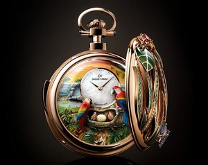 Jaquet Droz Creates One-off Parrot Repeater Pocket Watch