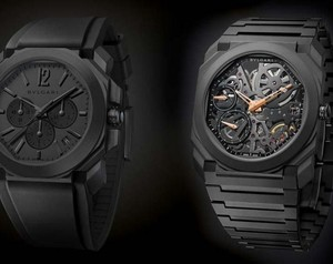 Bulgari Creates All-Black Watch Editions for its Octo Collection