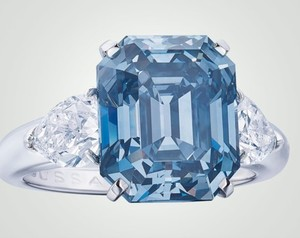 Fancy Blue Diamond Ring to be Sold at Geneva Auction