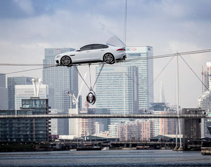 Jaguar XF High Wire Act the Ultimate Publicity Stunt