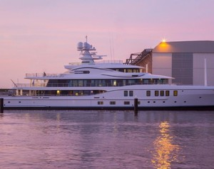 Superyacht Freefall Launches From AMELS Shipyard