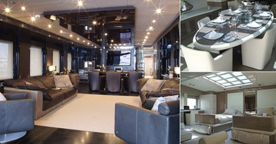 m y noor 39 s stylish interior by hot lab yacht. Black Bedroom Furniture Sets. Home Design Ideas