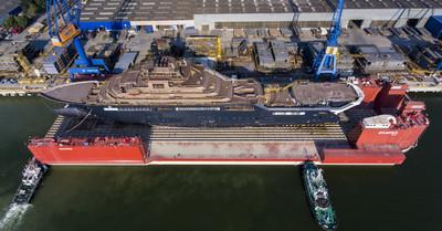 World's Largest Superyacht REV Prepares to Launch