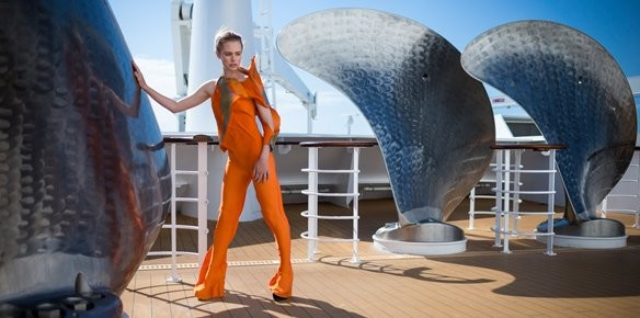 Queen Mary 2 Arrives in New York for New York Fashion Week