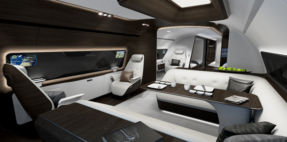 Lufthansa Private Jet Cabin Inspired by Mercedes Sports Car