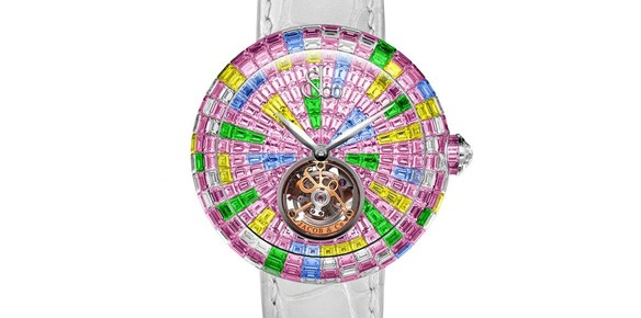 Jacob & Co Launch Brilliant Flying Tourbillon Multicolor Pink Timepiece