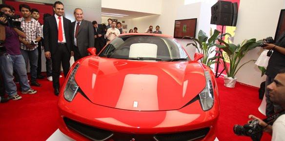 Ferrari Open Showroom In New Delhi Superyachts Com