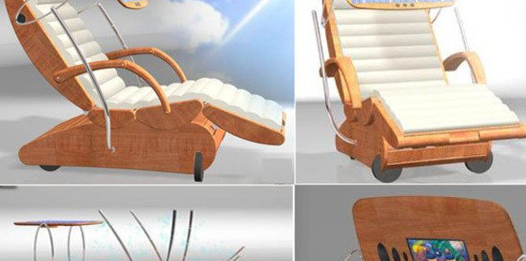High tech sun loungers provide ultimate for High tech luxury bed