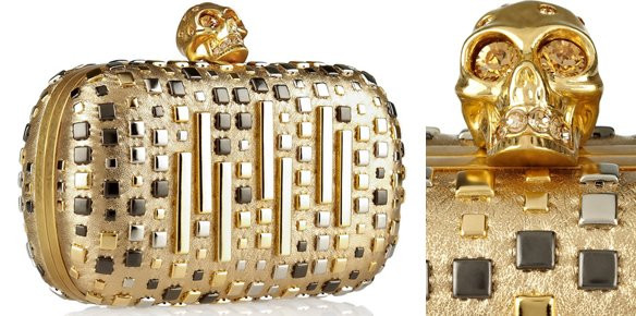 The $1,875 Leather Box Clutch from Alexander McQueen