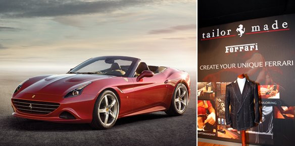 LEFT The New California T    RIGHT Ferrari's 'Tailor Made' programme in Maranello