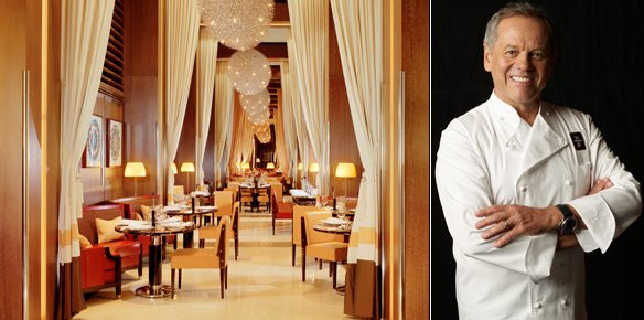 LEFT Wolfgang Puck's restaurant CUT at 45 Park Lane in London