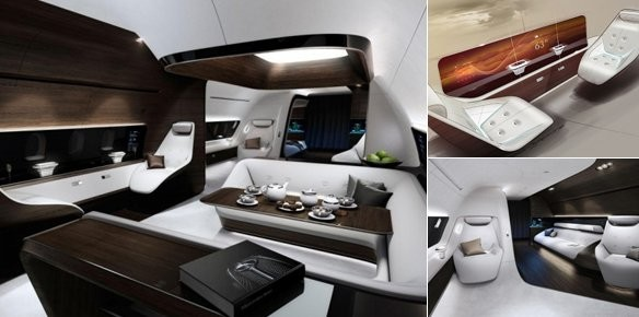 Lufthansa and Mercedes-Benz Create Ultra Luxury Private Jet Cabin Concept