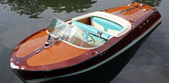 Vintage Riva Ariston Displayed At London Boat