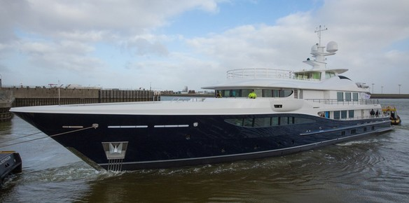 Amels 180 Superyacht Launched In The Netherlands