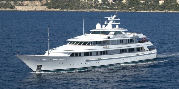 The 62 metre motor yacht Positive Carry (ex Rasselas)