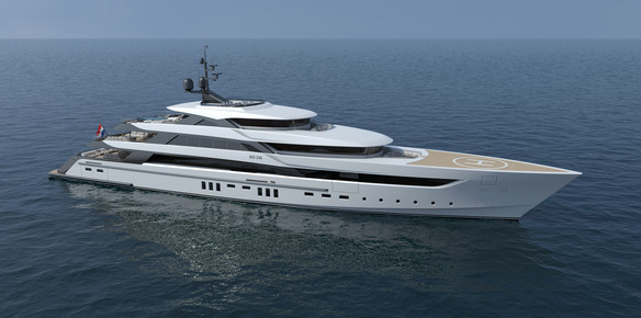 Segelyacht modern  A 72m Modern Motor Yacht from Mulder Design | superyachts.com