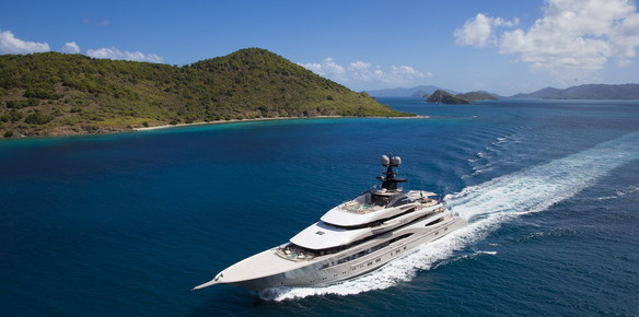 Superyacht Kismet in the Caribbean