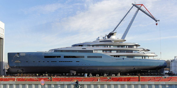 The latest images from the Top 100: The 98 metre superyacht Aviva (photo by Claus Schaefe)