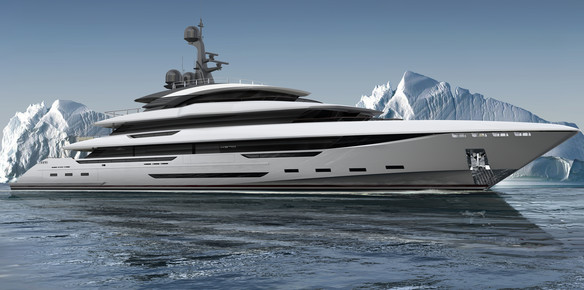 The 70-metre explorer project King Shark which is set to enter construction with Rossinavi