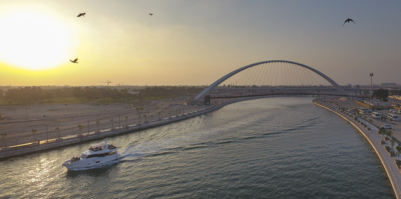 The 55 Gulf Craft Nomad takes to the Dubai Canal