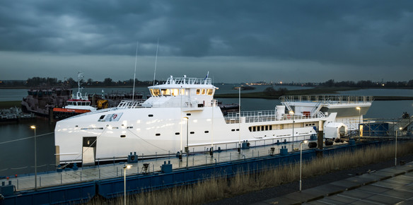 The latest Superyacht Support Vessel from DAMEN, Game Changer