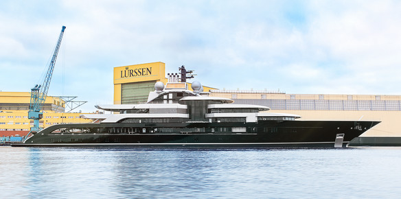 Lürssen confirms the launch of 120m+ Project Thunder