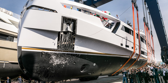 Superyacht Aurora Unveiled at the Rossinavi Yard