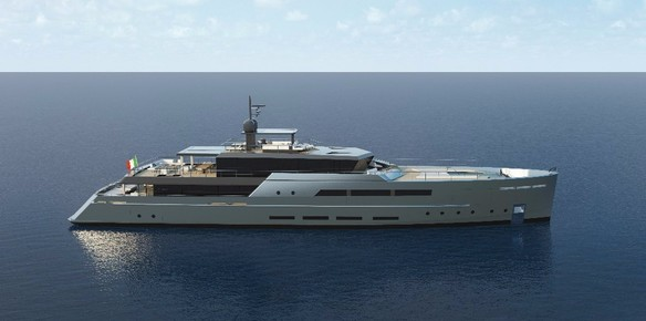 The brand-new 55m Baglietto superyacht concept
