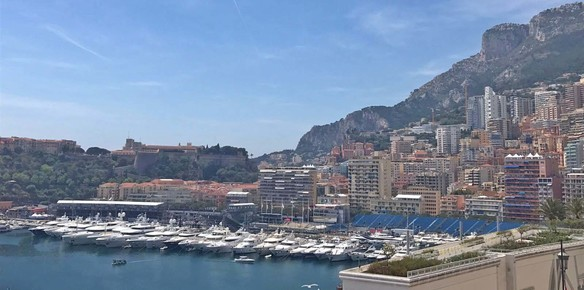 Superyachts line up for the historic spectacle of the Monaco Grand Prix (Photo Source: Superyachts.com)