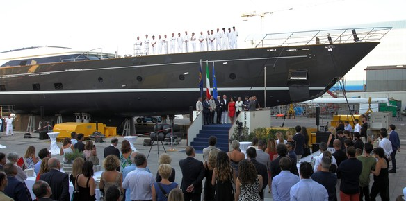 The latest 60-metre launch from Perini Navi is christened Seven