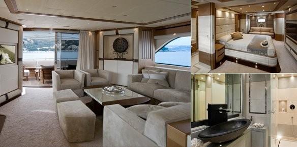 Superyacht lady jane s modern interior design for Interior design yacht