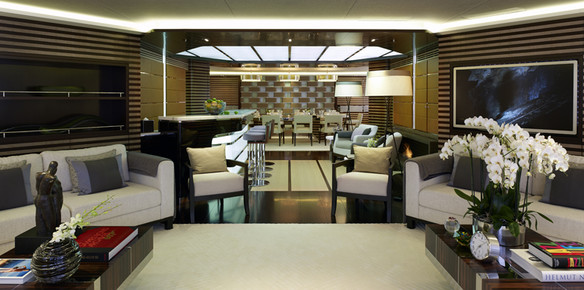 Heesen's 65m Galactica Star, Interior by Bannenberg & Rowell.