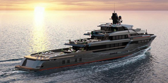 The 67-metre world explorer by Hot Lab and VSY