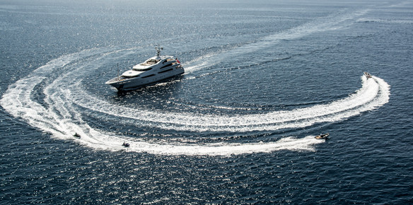 The 60-metre Benetti charter machine St. David