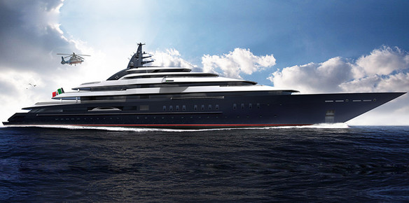 The 139-metre superyacht Project Redwood, which is edging closer to launch
