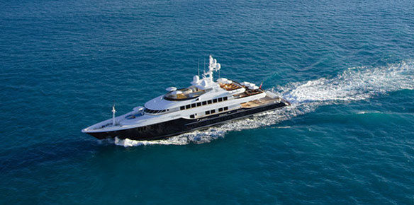 Superyacht Unbridled - On display with Burgess