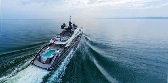 Superyacht Okto: Just one of the remarkable vessels on display in Barcelona this week