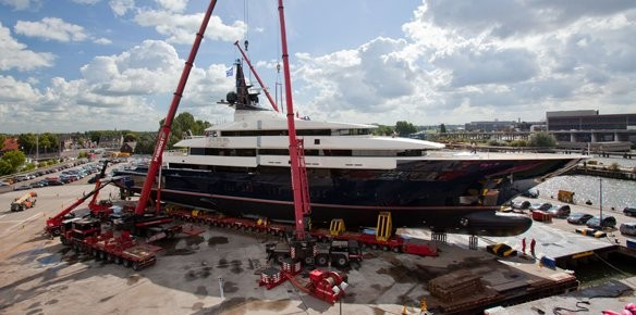 Superyacht Y706 Launched with Oceanco