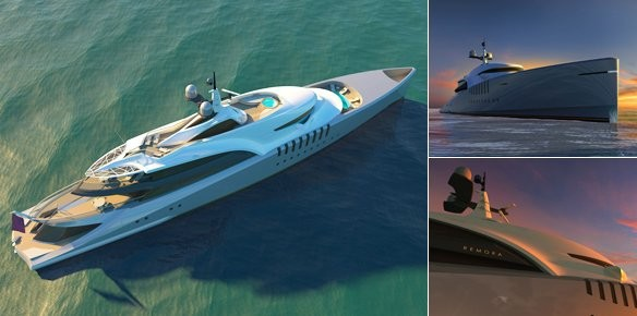 New Superyacht Designers Claydon Reeves Reveal the 80m Remora