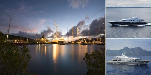Largest Superyachts of the 2010 Antigua Charter Show
