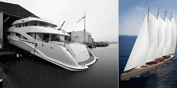 The Heesen M/Y Satori and the Dream Symphony sailing yacht