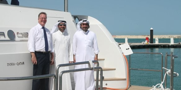 Lusail Marina Welcomes First Yacht Superyachts Com