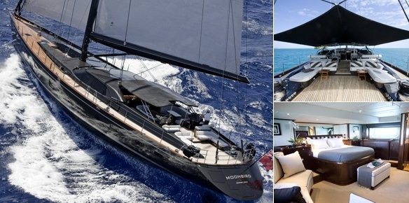 Charter Superyacht Moonbird Holiday Availability in the Caribbean